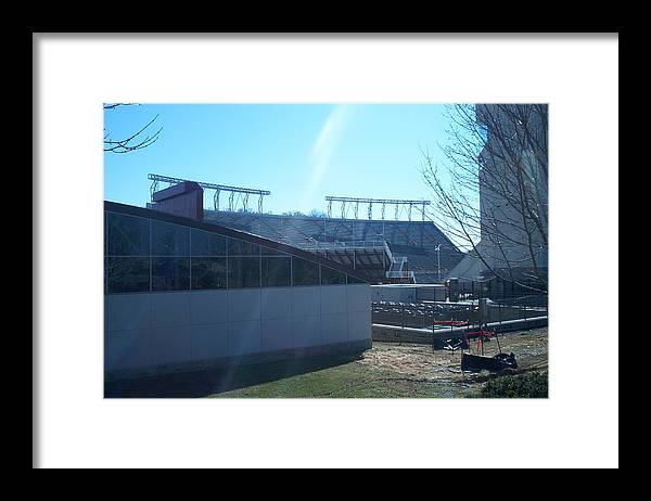 Hokie Framed Print featuring the photograph Lane Stadium by Eddie Armstrong