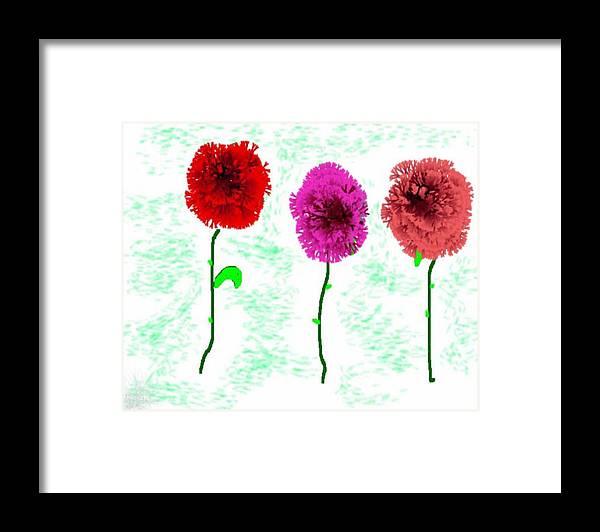 Flowers Framed Print featuring the digital art Language Of Flowers by Dr Loifer Vladimir
