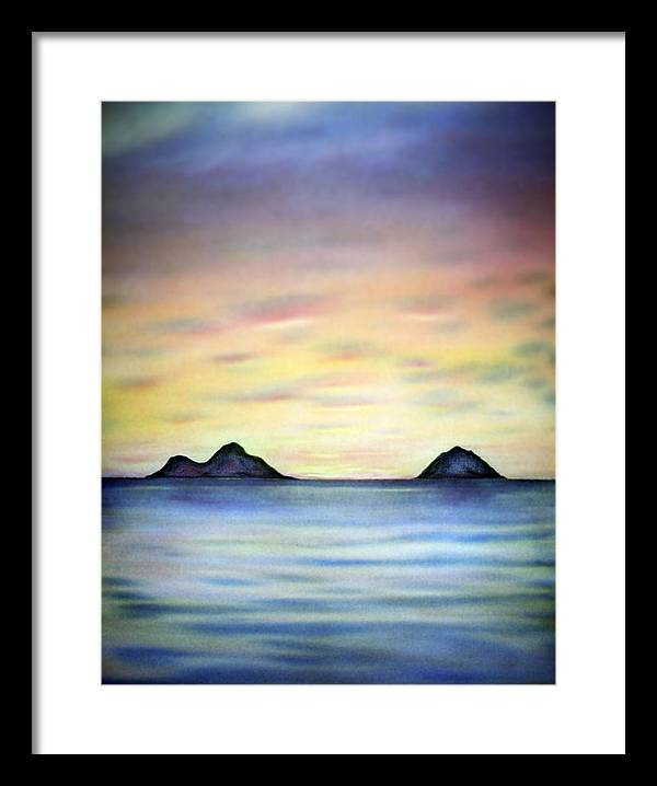 Lanikai Framed Print featuring the painting Lanikai Dawn by Kevin Smith