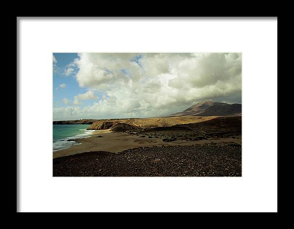 Landscape Framed Print featuring the photograph Lanzarote by Cambion Art