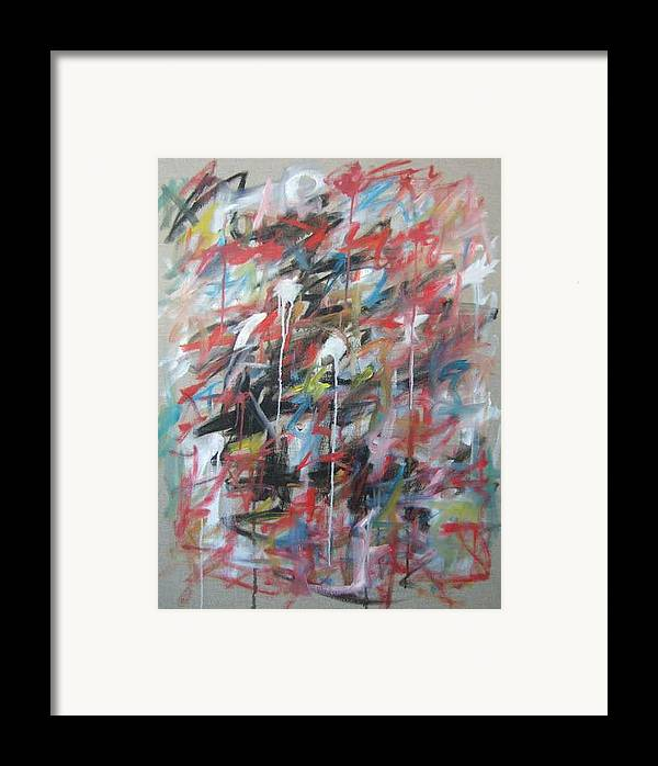 Abstract Framed Print featuring the painting Large Abstract No 4 by Michael Henderson