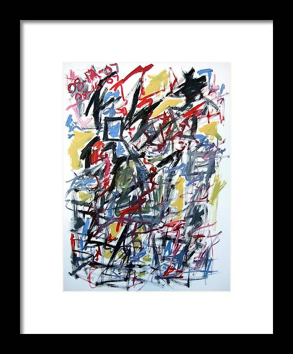 Abstract Framed Print featuring the painting Large Abstract No. 5 by Michael Henderson