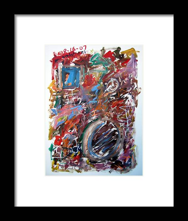Abstract Framed Print featuring the painting Large Abstract No. 6 by Michael Henderson