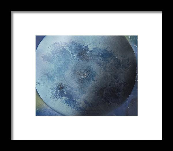 Spray Paint Framed Print featuring the painting Large Earth From Above by George Robert Allen