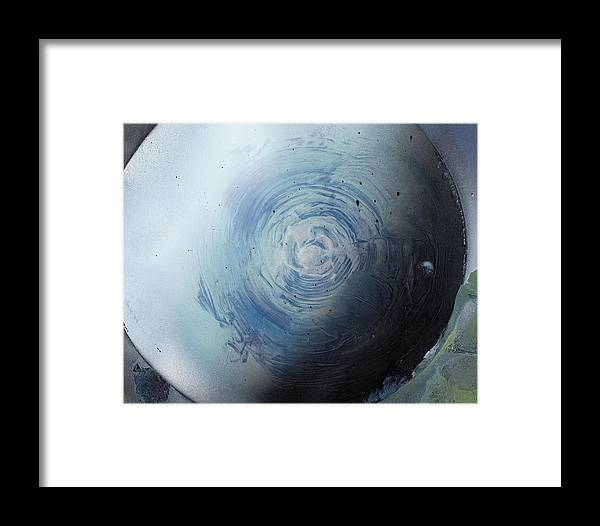 Spray Paint Framed Print featuring the painting Large Earth Storm by George Robert Allen