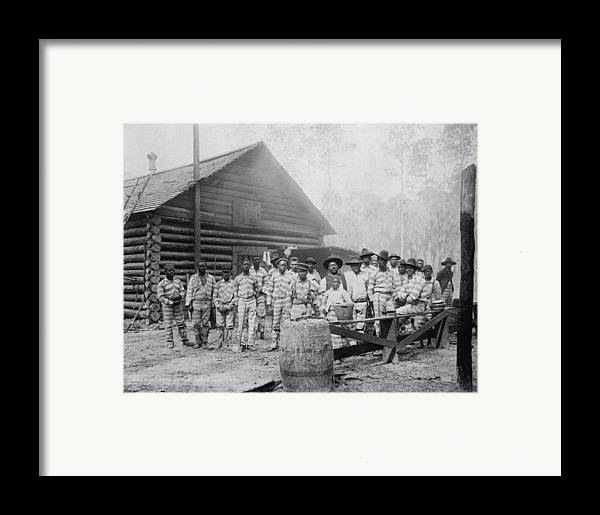 History Framed Print featuring the photograph Large Group Of African American Men by Everett