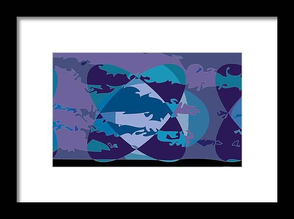 Abstract Framed Print featuring the digital art Large Me2 by Scott Davis