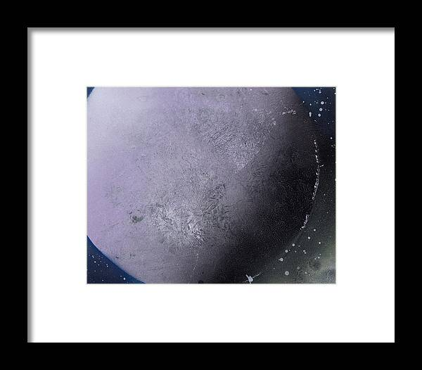 Spray Paint Framed Print featuring the painting Large Purple Planet by George Robert Allen
