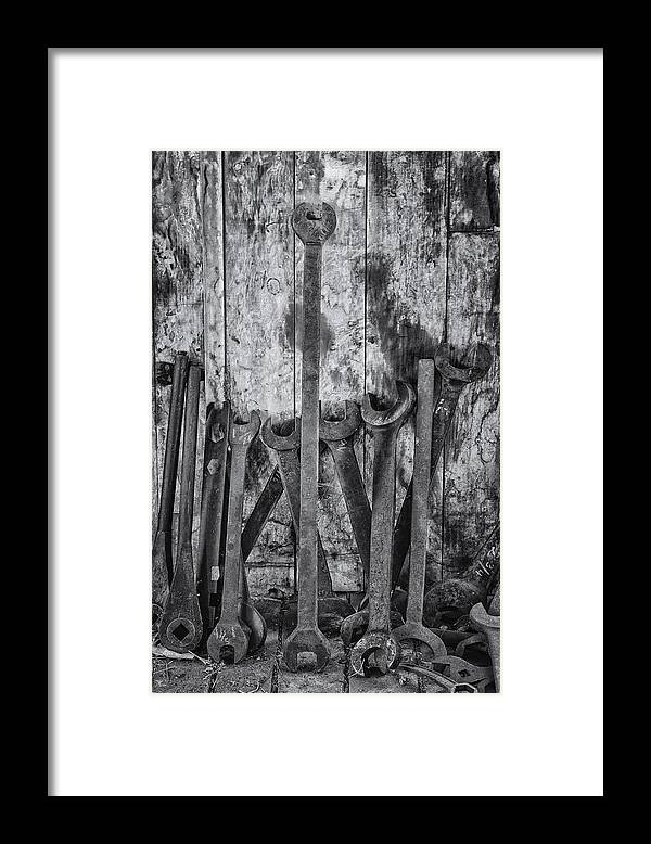 Scott Farm Vermont Framed Print featuring the photograph Large Tools by Tom Singleton