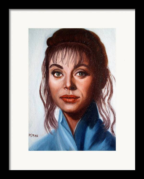 Portrait Framed Print featuring the painting Larissa by Lia Marsman