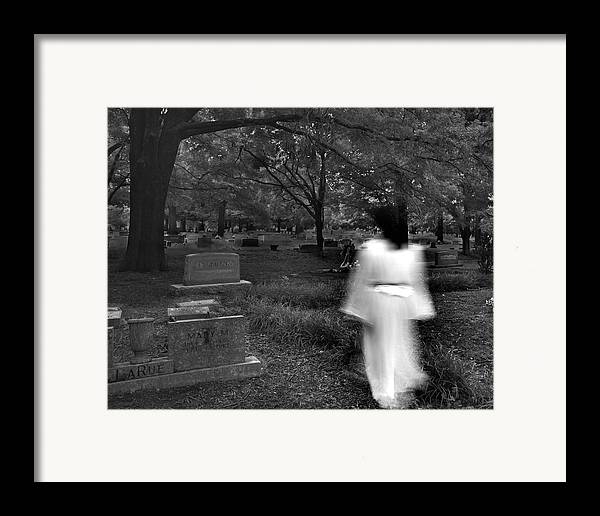 Cemetery Framed Print featuring the photograph Larue by Steve Parrott