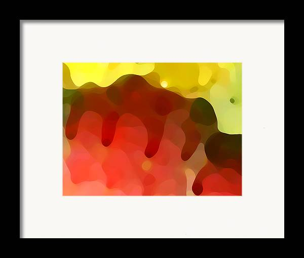 Abstract Framed Print featuring the painting Las Tunas Ridge by Amy Vangsgard
