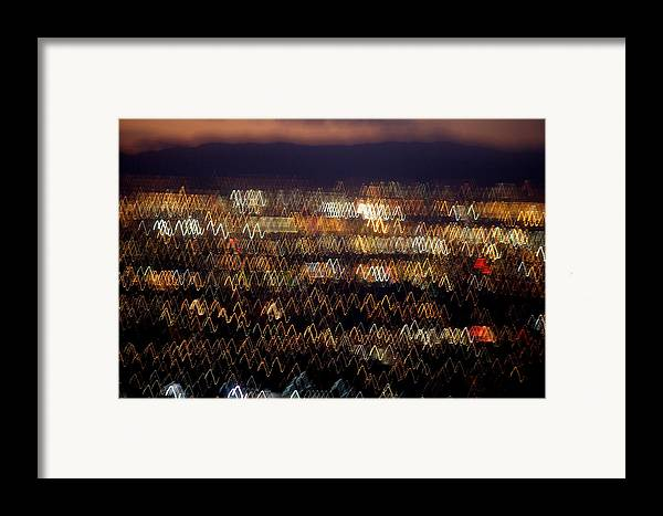 Aerial Framed Print featuring the photograph Las Vegas by Brad Rickerby