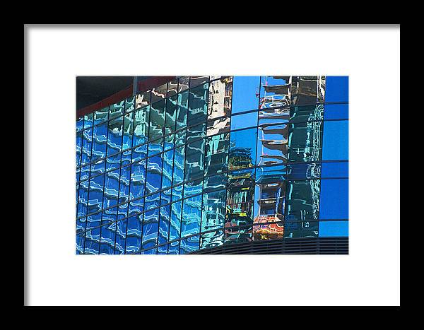City Center Framed Print featuring the photograph Las Vegas City Center Reflection by Richard Henne
