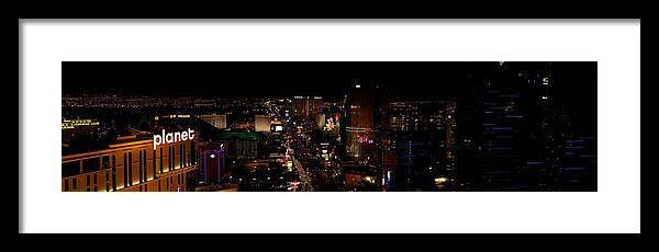 City Framed Print featuring the photograph Las Vegas Strip II by Michele Stoehr