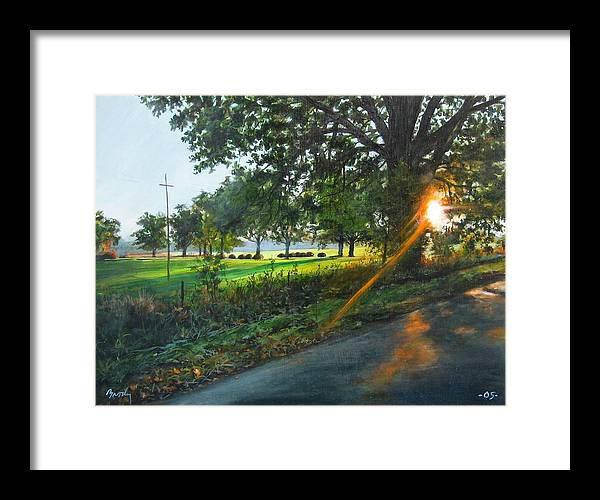Landscape Framed Print featuring the painting Last Cut by William Brody