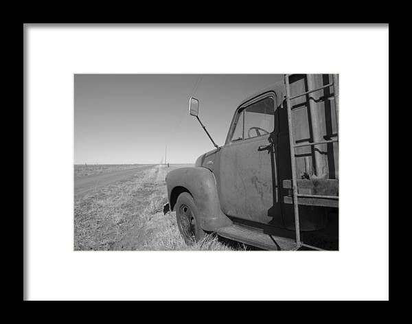 1953 Grain Truck Framed Print featuring the photograph Last Job by Bill Hyde