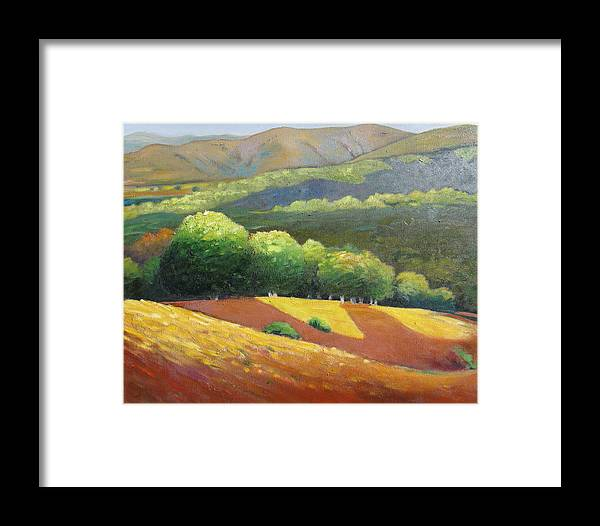 Ca Hills Framed Print featuring the painting Last Kiss Of Sunshine by Gary Coleman
