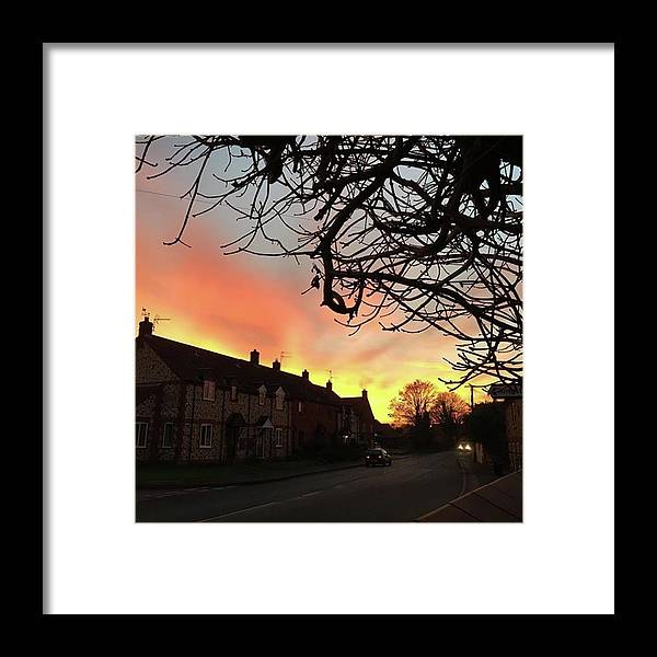 Natureonly Framed Print featuring the photograph Last Night's Sunset From Our Cottage by John Edwards