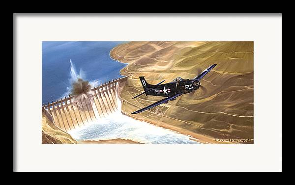 Military Framed Print featuring the painting Last Of The Dambusters by Marc Stewart