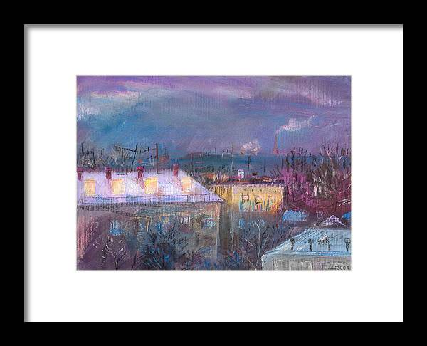 Pastels Framed Print featuring the painting Last Rays by Natoly Art