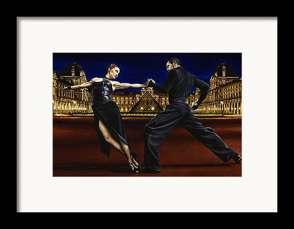 Tango Framed Print featuring the painting Last Tango In Paris by Richard Young