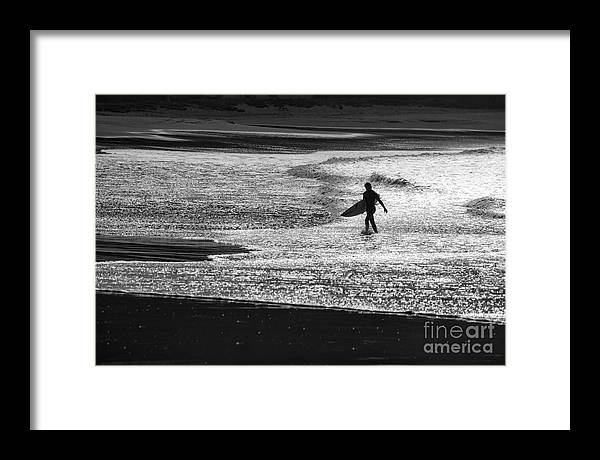 Surfer Framed Print featuring the photograph Last wave by Sheila Smart Fine Art Photography