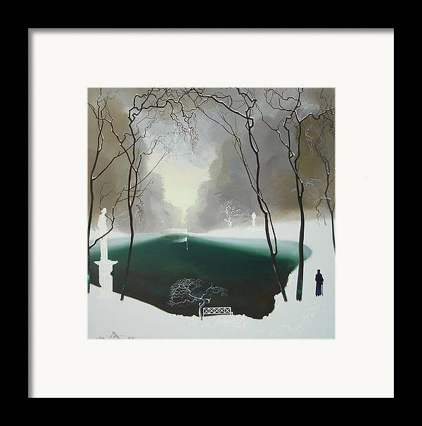 Landscape Framed Print featuring the painting Last Winter by Andrej Vystropov