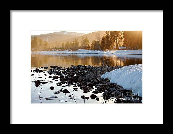 Lake Tahoe Framed Print featuring the photograph Late Aternoon Lake Tahoe by Heather S Huston