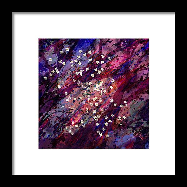 Abstract Framed Print featuring the digital art Late Bloomers by Rachel Christine Nowicki