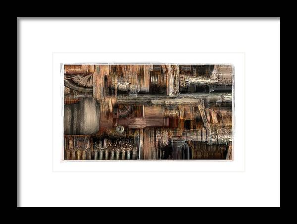 Still Life Framed Print featuring the digital art Lathe by Nuff