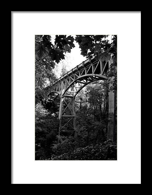 Latourell Falls Framed Print featuring the photograph Latourell Bridge by Noah Cole