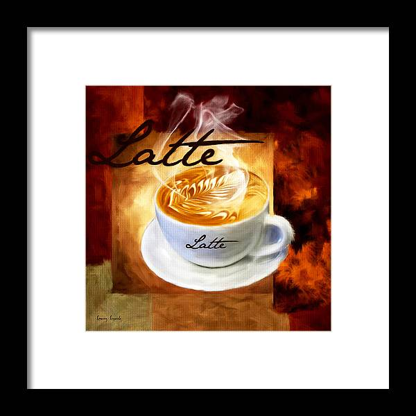 Coffee Framed Print featuring the digital art Latte by Lourry Legarde
