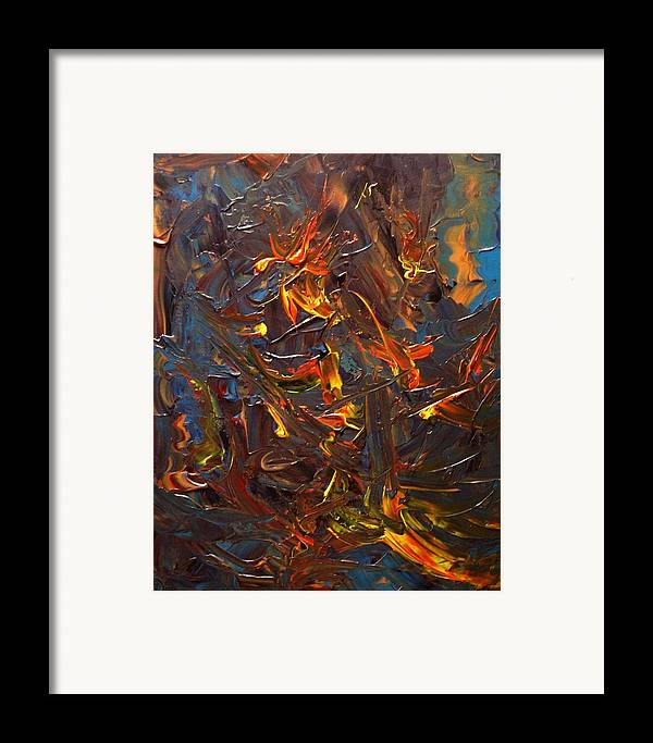 Abstract Framed Print featuring the painting Laugh And Learn by Karen L Christophersen
