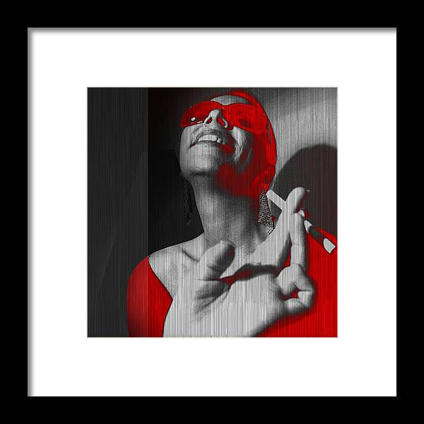 Woman Framed Print featuring the photograph Laugh by Naxart Studio