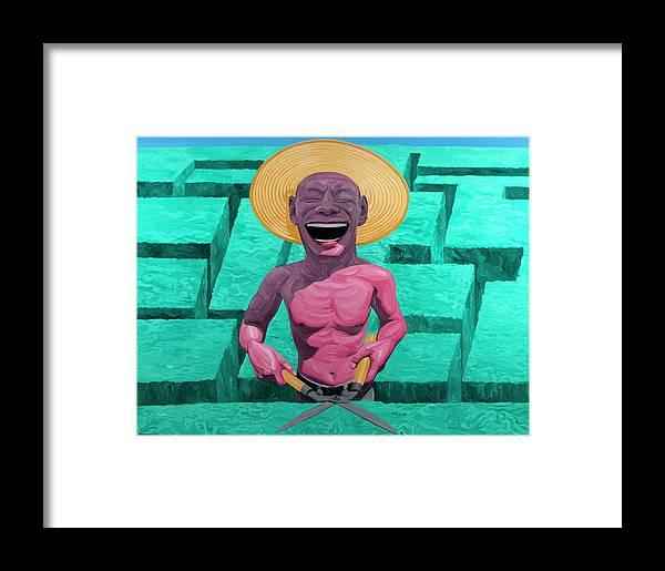 Laughing Gardener Framed Print featuring the painting Laughing Gardener by Yue Minjun