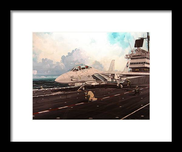 Military Framed Print featuring the painting Launch The Alert 5 by Marc Stewart