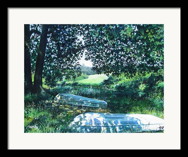 Landscape.boats Framed Print featuring the painting Launch by William Brody