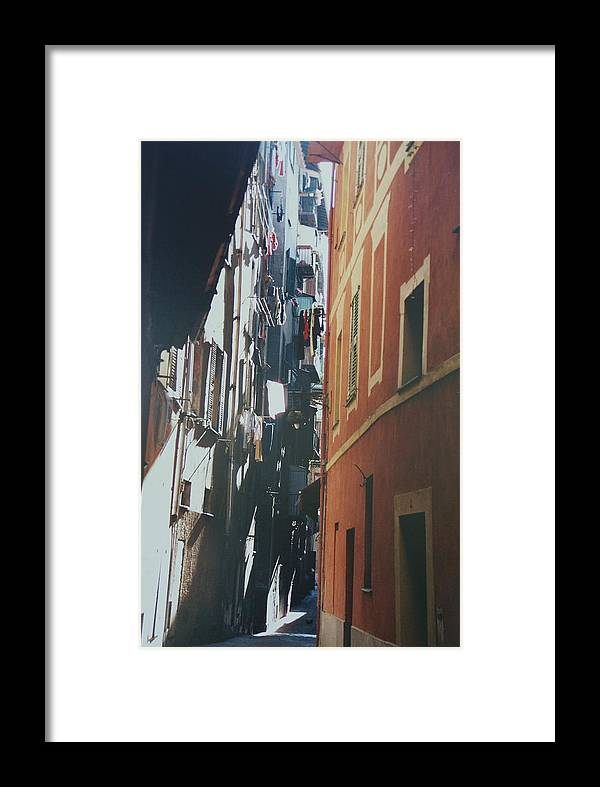 Nice Framed Print featuring the photograph Laundry Day In Nice by David Connaughton
