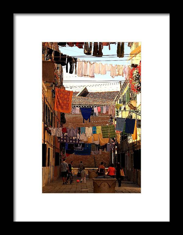 Venice Framed Print featuring the photograph Laundry Day In Venice by Michael Henderson