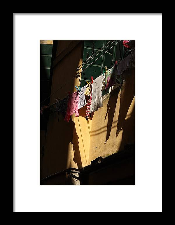 Framed Print featuring the photograph Laundry In The Sun In Venice by Michael Henderson