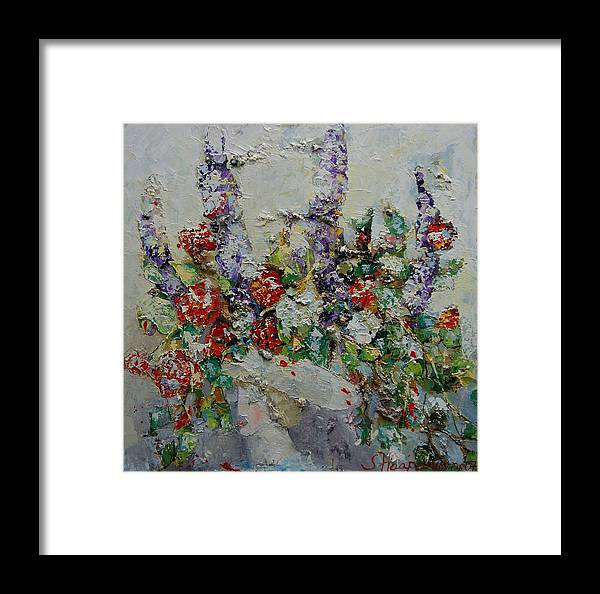 Figurative Framed Print featuring the painting Laura by Sari Haapaniemi