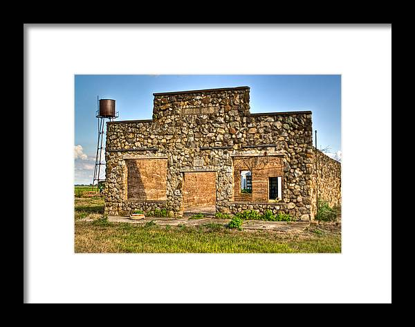 Laura Framed Print featuring the photograph Laura Town Ghost Town In Arkansas by Douglas Barnett