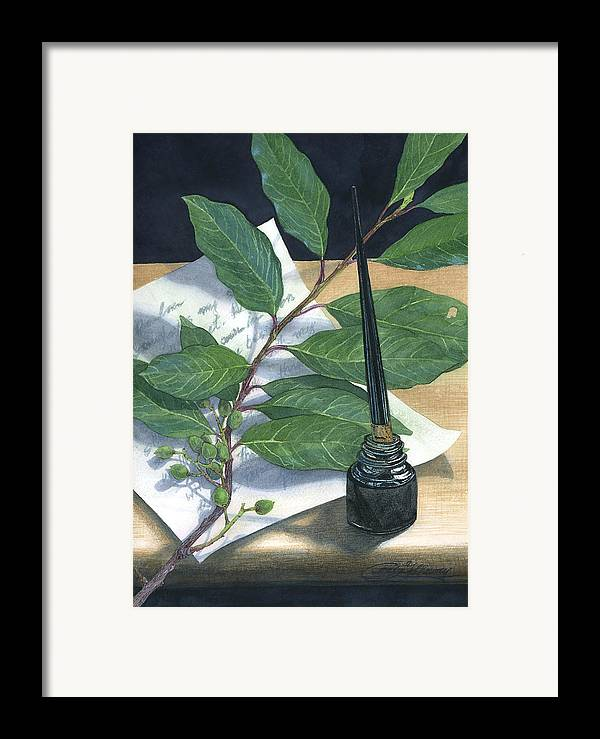 Leaves Framed Print featuring the painting Laurel by Craig Gallaway