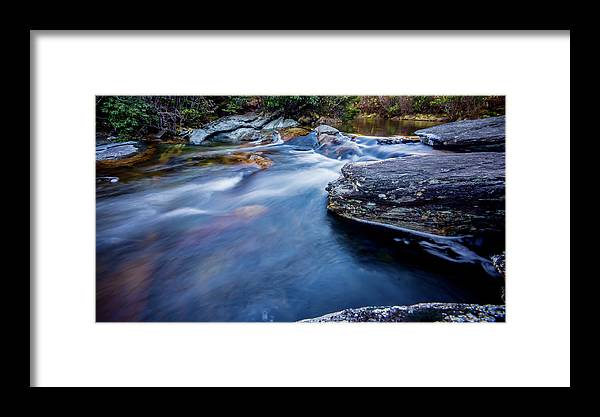 Beautiful Framed Print featuring the photograph Laurel Flat, Nc - Waterfall by Ryan Kelehar