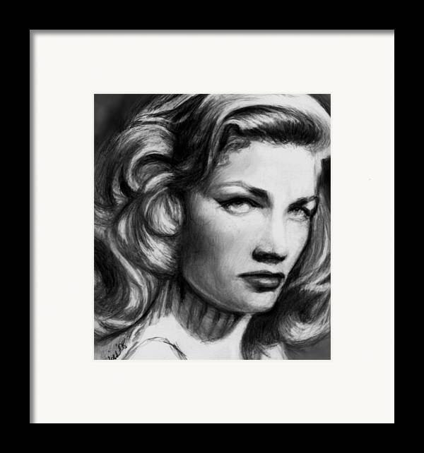 Actress Woman Framed Print featuring the drawing Lauren by Carliss Mora