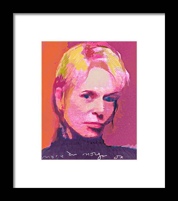 Portrait Framed Print featuring the painting Lauri by Noredin Morgan