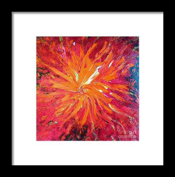 Lava Framed Print featuring the painting Lava by Dawn Hough Sebaugh