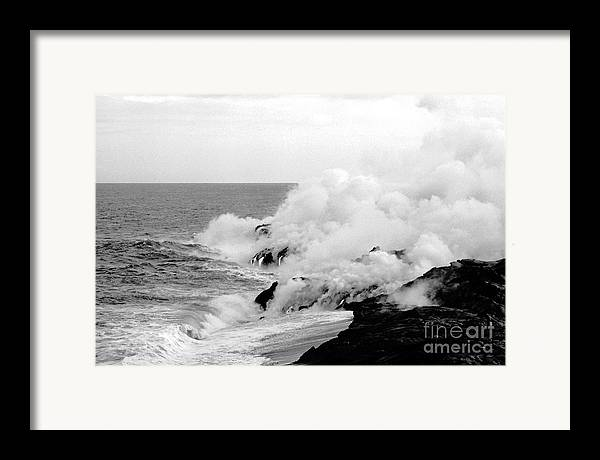 Lava Framed Print featuring the photograph Lava Flowing To The Sea by Susan Chandler