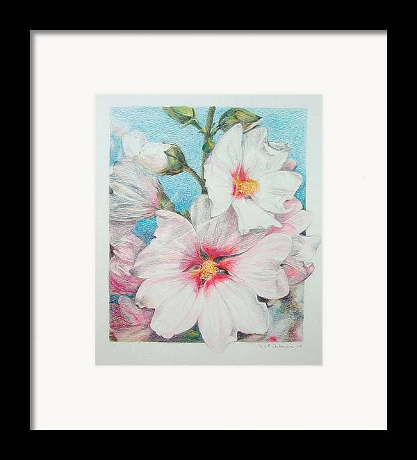 Flower Framed Print featuring the painting Lavater by Muriel Dolemieux